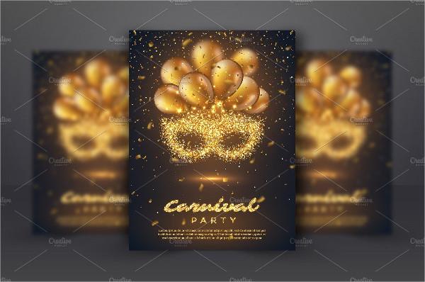 Golden Carnival Poster Template