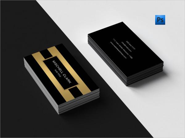 Golden Metal Finish Business Card Design