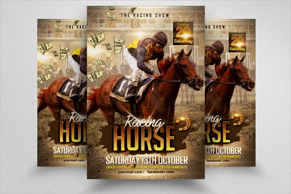 Grand Derby Horse Racing Flyer Design