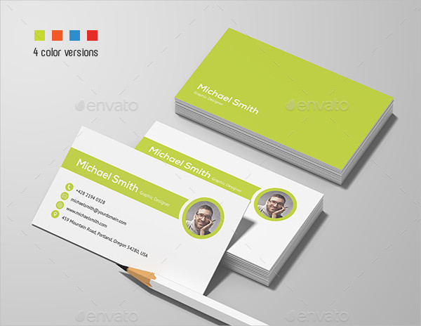 Clean Personal Business Card Designs
