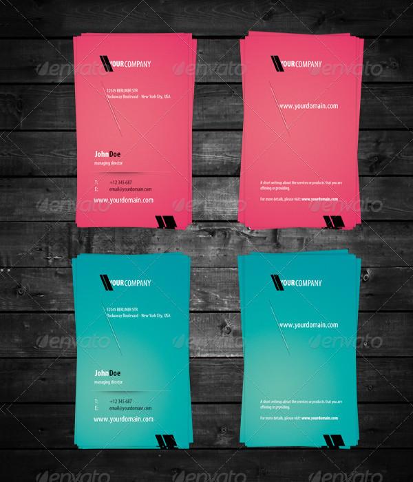 Green Pink Business Card Design