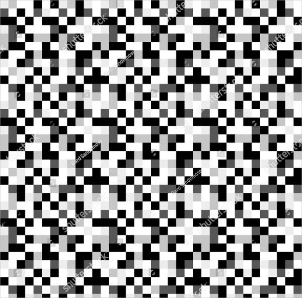 Grey Tones Pixel Pattern