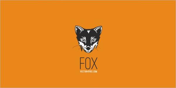 Grunge Fox Vector Logo Free Download