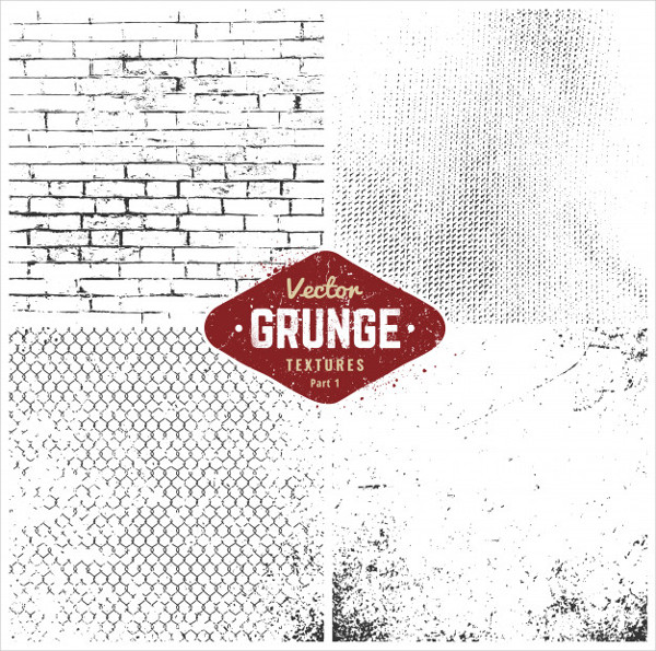 Grunge Textures Set Free Vector