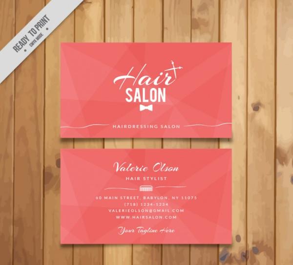 Hair Salon Pink Card Free Download