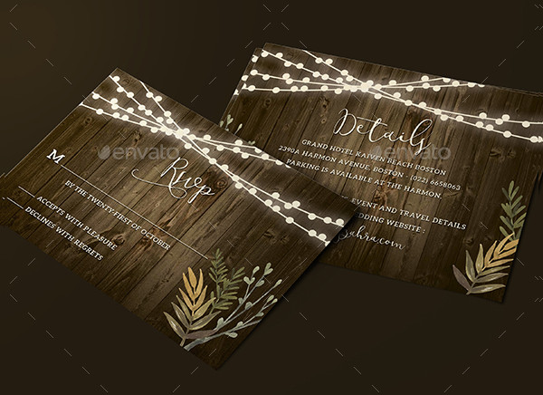 Sample Rustic Wedding Invitations Design