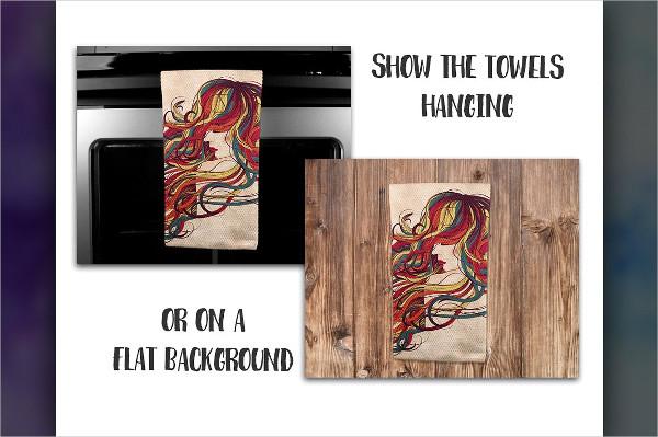 Hanging Towel Mockup Showcase Design