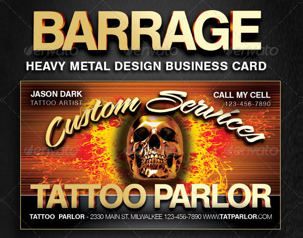 Heavy Metal Business Cards for Businesses