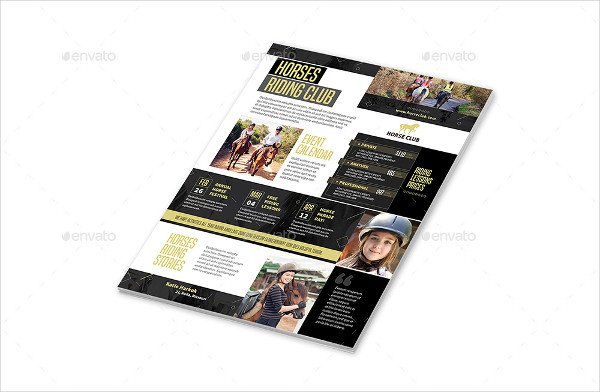 Fully Editable Horse Club Flyers