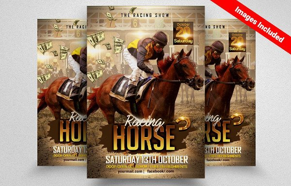 Horse Racing Show Flyer Template