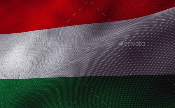 Hungary Flag with Fabric Texture