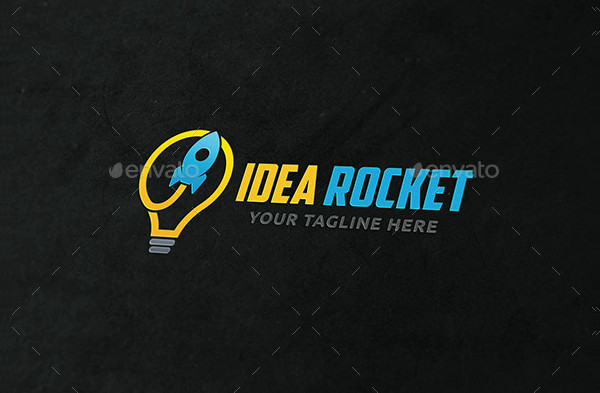 Idea Rocket Creative Logo Template