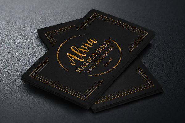 Jewelry Store Business Card Photoshop Template