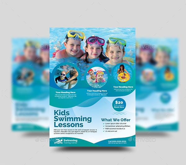 Kids Swimming Training Flyers