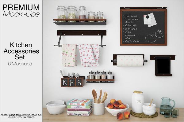 Kitchen Accessories Mockup Set