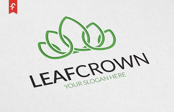 Leaf Crown Logo Design