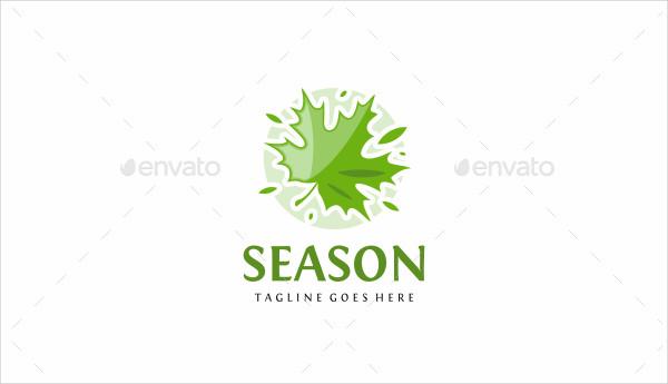Leaf Seasonal Logo Template