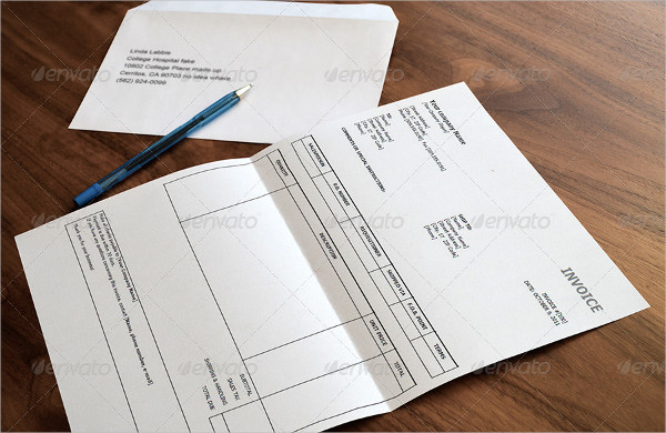 A4 Letter & Envelope Mock-ups