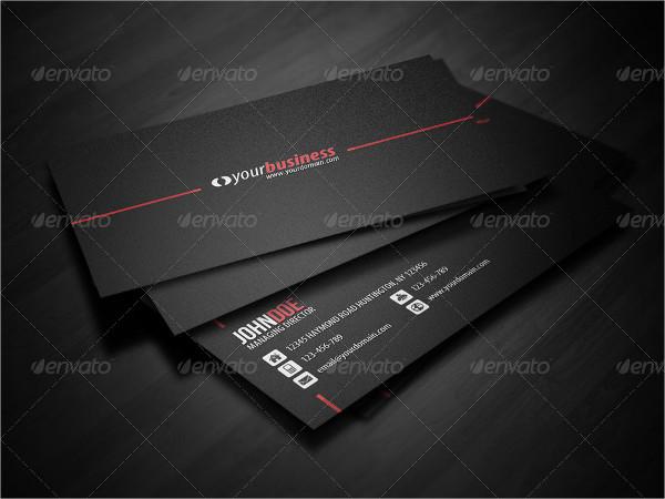 Line Corporate Business Card Template