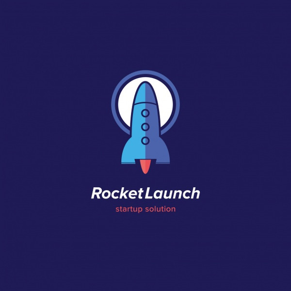 Rocket Launch Logo Template Design Free Vector