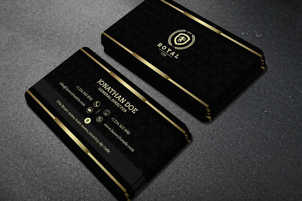 Luxury Gold & Black Business Card Design