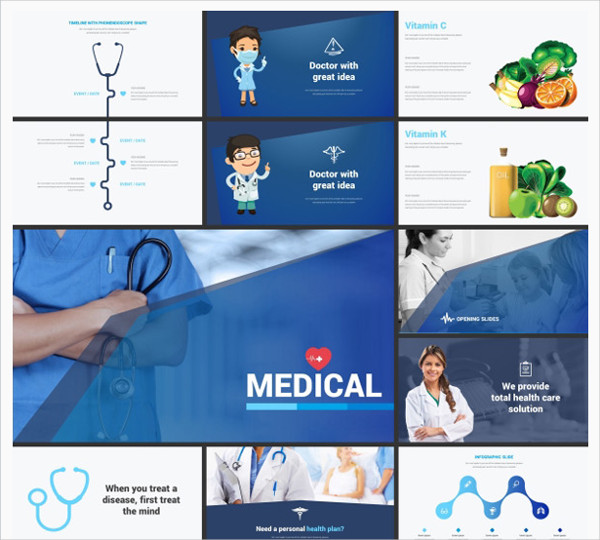 Professional Medical Powerpoint Template Design