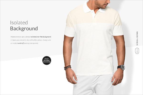 Men Polo Shirt Printed Mockups Set
