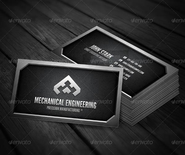 Metal Mechanical Engineering Business Card