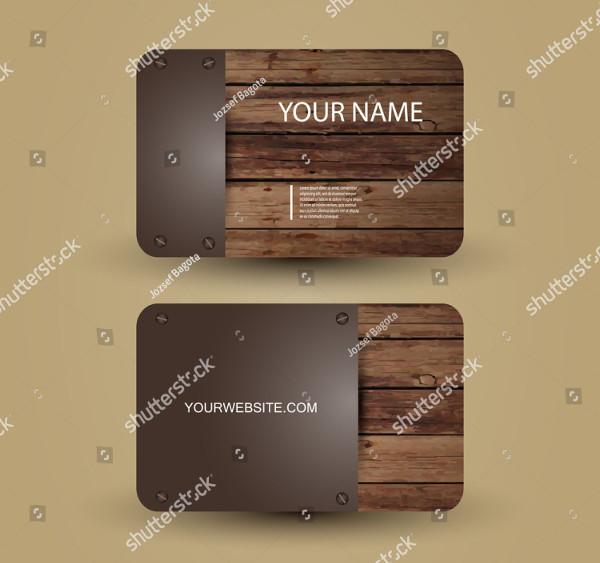 Metal Wood Business Card Design