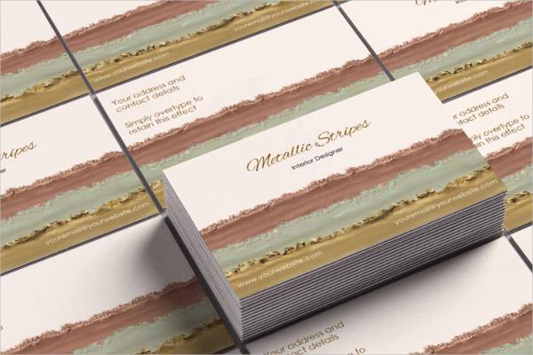 Metallic Rose Gold Business Card Design