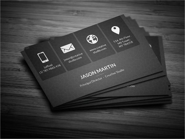 Metro Dark Corporate Business Cards Design