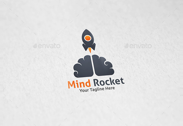Mind Rocket Galaxy Logo Template