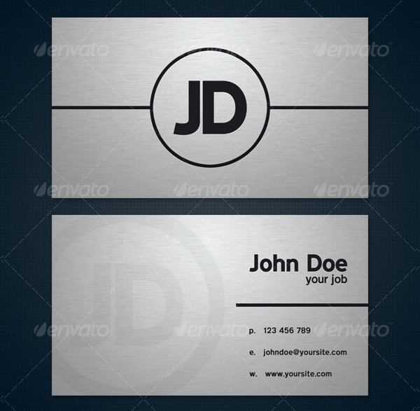 Modern Brushed Metal Business Card Template