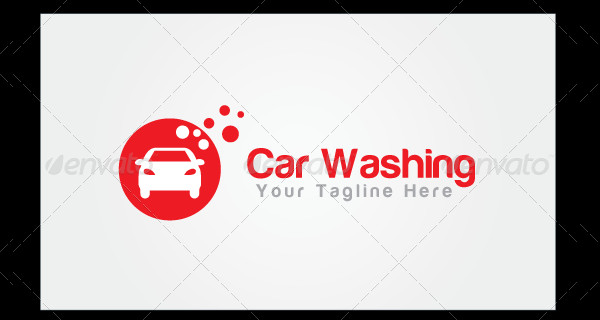 Modern Car Washing Logo Template