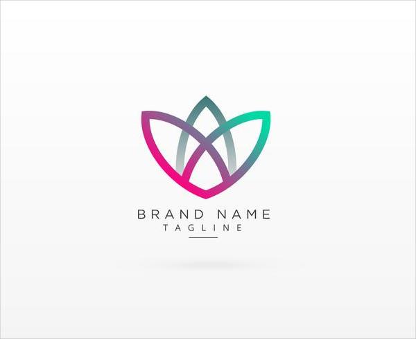 Modern Colorful Leaf Style Brand Logo Free