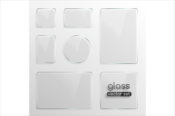 Modern Glass Plates Background