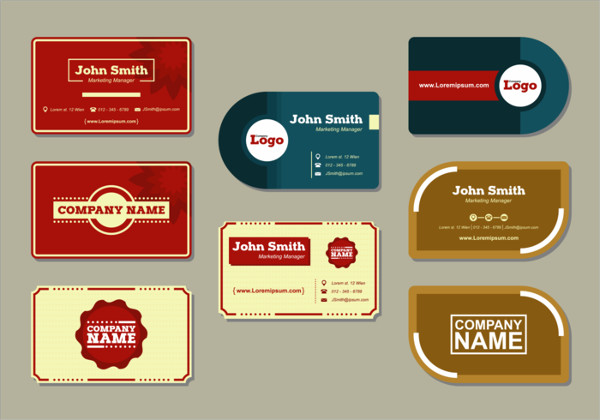 Modern Name Card Vectors Free Download