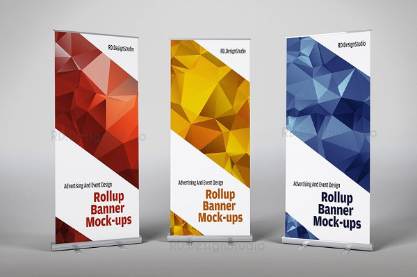 Modern Roll Up Banner Mock-Ups