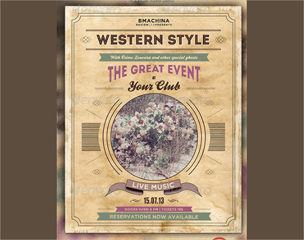 Modern Western Style Poster Template