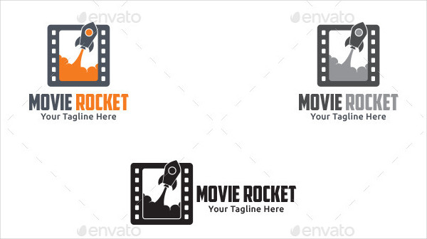 Movie Rocket Branding Logo Template