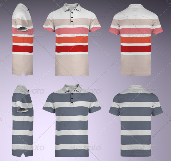 Print Multi-Sided Polo Shirt Mock-Up