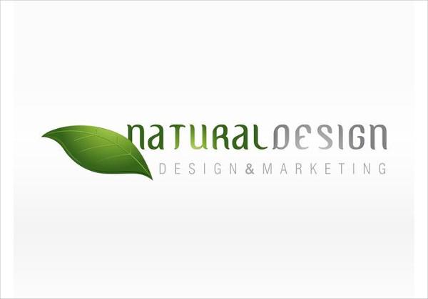 Natural Leaf Design & Marketing Logo Free