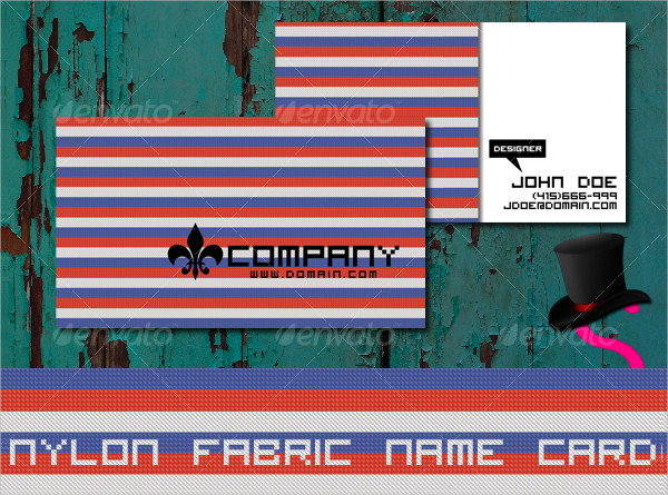 Nylon Fabric Name Card Templates