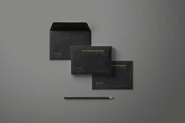 Open and Closed Envelopes Mockup Free
