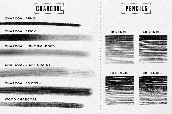Pencil & Charcoal Procreate Brushes