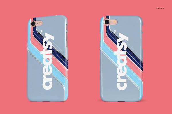 Phone Glossy Snap Case Mockup