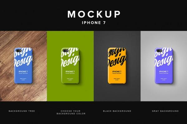 Phone Retro Case Mockup