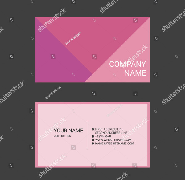 Pink Abstract Business Card Templates