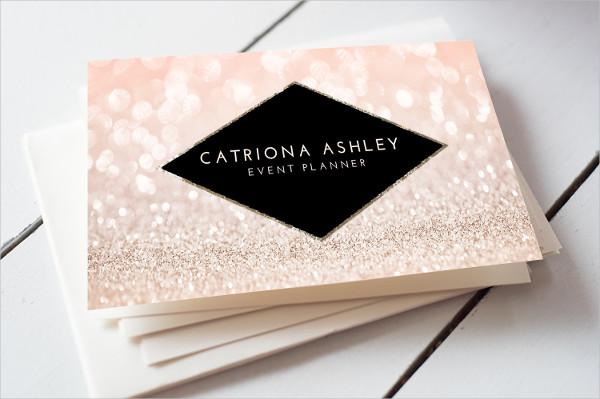 Pink Glitter Business Card
