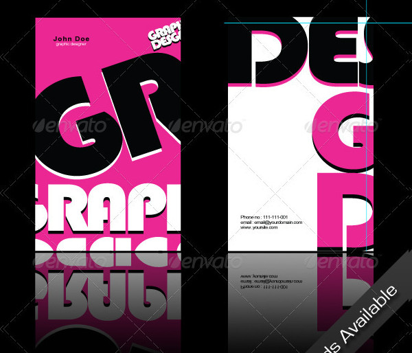 Pink Graphic Designer Business Card